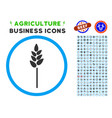 wheat ear rounded icon with set vector image