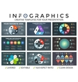 circle arrows infographic set cycle vector image