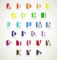 alphabet set of bright color vector image vector image