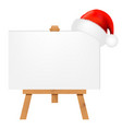 banner with santa claus cap vector image