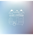 RV and caravan park template On nice blue vector image