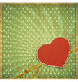 vintage valentines hearts background vector image vector image