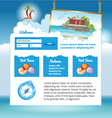 travel web site vector image vector image