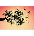 beautiful picture with the birds vector image vector image