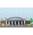Airport taxi service concept vector image