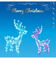 Christmas silhouettes reindeer of the garland vector image