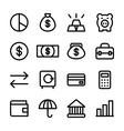 crisp finance icons vector image