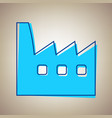 factory sign sky blue icon vector image