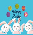 happy easter cute rabbit advertising poster vector image