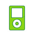 portable music device  lemon scribble icon vector image