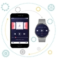 Smartphone and Smart Watch vector image