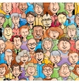 Smiling faces Seamless pattern vector image