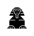 sphinx icon black sign on vector image
