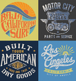 Vintage T-shirt Graphic Set 2 vector image