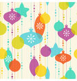 Christmas decoration pattern on light background vector image vector image