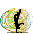 Breakdancer dancing on hand stand vector image