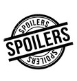 Spoilers rubber stamp vector image