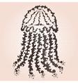 decorative jellyfish vector image