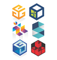 cubic logo vector image