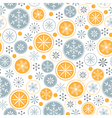 Snowflake pattern on white background vector image vector image