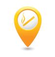 smoking MAP pointer yellow vector image vector image