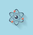Flat web internet icon Atomic model vector image