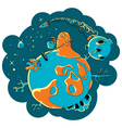 space pollution vector image