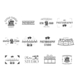 Vintage Textured Photography Badges Labels vector image