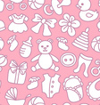 Baby Girl Seamless Pattern vector image