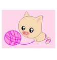 ball cat vector image