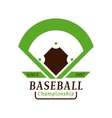 Baseball tournament professional badge vector image