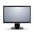 Computer monitor display isolated vector image