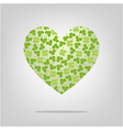 heart with clover pattern vector image