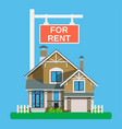 home for rent icon real estate concept vector image