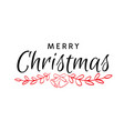 merry christmas hand drawn text vector image