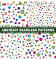set of four abstract seamless pattern simple vector image