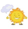sun smiley vector image