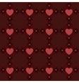 Dark red hearts pattern2 vector image vector image