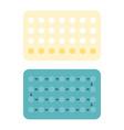 28 contraceptive pills vector image