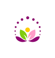 lotus flower abstract leaf yoga logo vector image