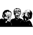 Blind Men vector image vector image