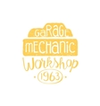 Car Mechanic Yellow Vintage Stamp vector image