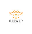 bee logo template vector image