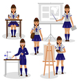 girl at school vector image