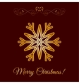 Gold Snowflake Icon Over Brown Background vector image