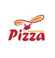 handmade pizza vector image