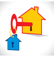 home key with hmoe key chain vector image