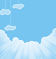 cut sky cloud blue vector image