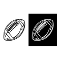 American Football Icon vector image vector image