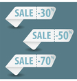 Collect Sale Signs vector image vector image